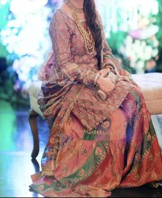 Indian Dresses Traditional, Traditional Outfits, Pakistani Bridal Dresses, Pakistani Wedding Dresses, Gown Dress Party Wear, Gharara Designs, Cute Dress Outfits, Fancy Dress Design, Indian Party Wear