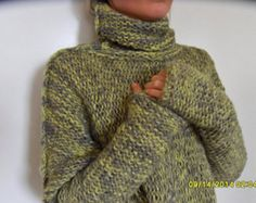 Stay warm this season and skimp on the scarf - turtlenecks are the best way to bundle ! Can be worn up or folded down. Amazingly soft , cozy and warm.  The color is Brown. Please allow me 8-10 days to make it !  A new and exciting blow yarn made from soft Baby alpaca and cozy Merino wool. Its construction is unique, based on the newest yarn technologies, where instead of spinning, the fibres of alpaca and merino are air blown into a tube, which makes the garment made in this yarn very soft…