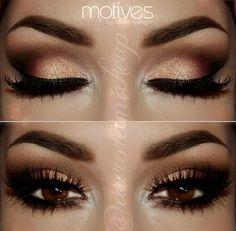 brown eyes makeup smokey dark auroramakeup motives. See more. Smokey eye