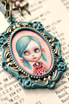 Mab Graves - Blue Blythe cameo necklace