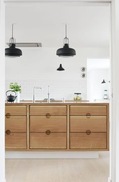 Kitchen decor, kitchen cabinets, kitchen organization, kitchen organizations and of course. The kitchen is the center of the home, so it's important to have a space you love! These pins are my favorite kitchens and kitchen ideas. Warehouse Kitchen, Barn Kitchen, Rustic Kitchen, Kitchen Decor, Kitchen Ideas, Kitchen Flooring, Kitchen Countertops, Kitchen Cabinets, Cupboards