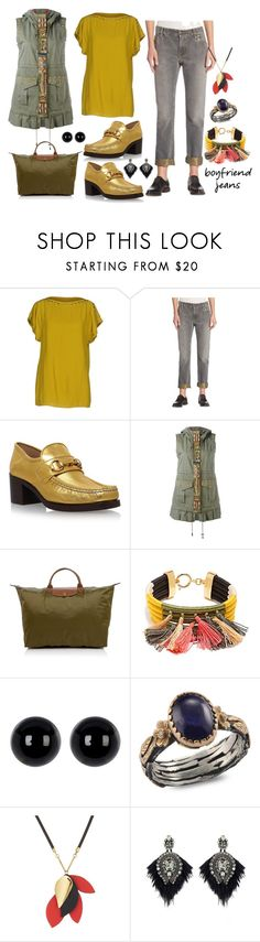 """Untitled #2236"" by moestesoh ❤ liked on Polyvore featuring Pinko, Brunello Cucinelli, Gucci, Alessandra Chamonix, Longchamp, Isabel Marant, Candela, Emma Chapman, Marni and Forest of Chintz"