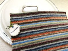 Wool Pot Holders Hot Pads RETRO Striped Pot Holders Eco-Friendly Recycled Wool Hotpads by WormeWoole