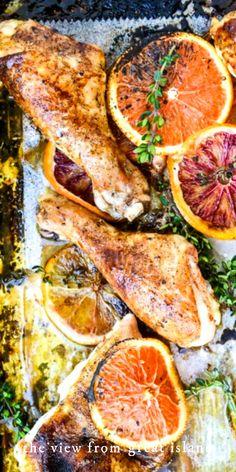 Dinner Recipes Easy Quick, Good Healthy Recipes, Easy Meals, Citrus Recipes, Fall Recipes, Best Chicken Recipes, Chicken Ideas, Dinner Healthy, Roasted Chicken
