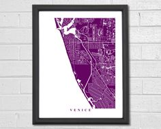 A personal favorite from my Etsy shop https://www.etsy.com/listing/269473826/venice-map-art-map-print-florida-travel