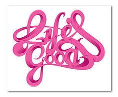 Digitaldruck Life Is Good auf Acrylglas, 42 x 59 cm