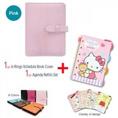 2016 6-Rings Schedule Book Cover + Sanrio Agenda Refills Planner Pages