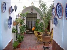 """Typical """"patio andaluz"""", this is a great place to use ceramics in the floor or walls. Typical patio andaluz, this is a great place to use ceramics in the floor or walls. Outdoor Spaces, Outdoor Living, Outdoor Decor, Interior Exterior, Exterior Design, Moroccan Interiors, Handmade Tiles, Southwest Style, Back Patio"""