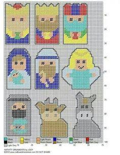 Nativity magnets - Plastic Canvas