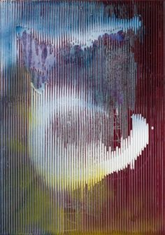 Sigmar Polke - Untitled (Lens Painting) 2008 - Mixed media on fabric.