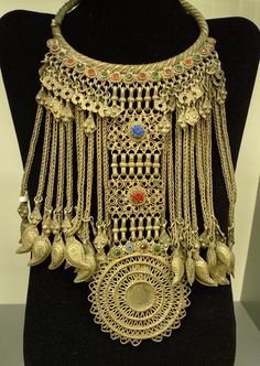 Afghanistan | Necklace from the Pashtun nomadic Kuchi people | © Kathleen McCabe-Elsey