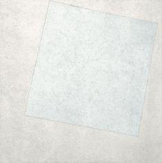 """""""White on White"""" — Kasmir Malevich, 1918. Suprematism movement."""