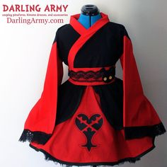 Heartless Kingdom Hearts Cosplay Kimono Dress Wa Lolita Skirt Accessory | Darling Army