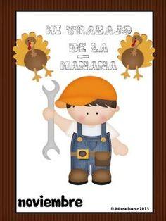 My Morning Work Routine in Spanish (Mi trabajo de la mañana) noviembre
