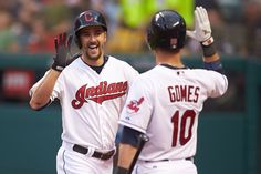 Lonnie Chisenhall and Yan Gomes, Cleveland Indians