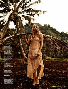 Robyn Lawley is a Nature Girl for Cosmopolitan Australia by Steven Chee.