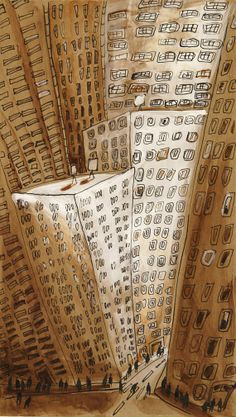 Downtown Manhattan New York City ArtOriginal by MyNewYorkCity