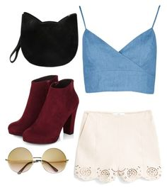 """Untitled #10"" by mooza ❤ liked on Polyvore featuring MANGO, Boohoo, Forever 21 and Retrò"