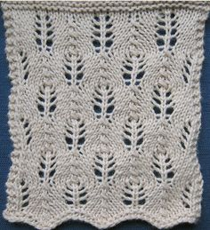 """""""Fir Cone"""" lace. Surprisingly uncomplicated to knit!"""