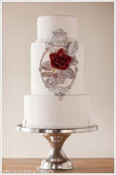 disney wedding beauty and the beast cake