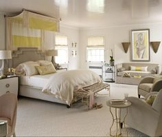 Kara Cox designed the sunny Daughter's Bedroom for the 2013 Adamsleigh Showhouse - Traditional Home®  Photo: John Bessler Sponsored by Stanton