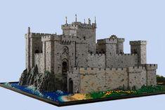 Chateau Lego, Lego Station, Lego Burg, Pirate Lego, Lego Structures, Model Castle, Wargaming Table, Lego Knights, Minecraft Castle