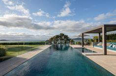 St Heliers House - Sumich Chaplin Architects Landscape Plans, Urban Landscape, Landscape Design, Outdoor Spaces, Outdoor Living, Outdoor Decor, Spa Room Decor, Spa Rooms, Garden Pool