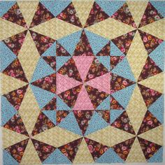 kaleidoscope quilts | blocks with 3 separate colorings create curved movement