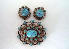 Vintage West Germany Brooch and Matching от CuriousityShopInc