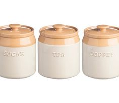 The Mason Cash Cane Tea Coffee Sugar Jars are part of the new Mason Cash range, inspired by the traditional Cane Mixing Bowl. The Cane collection from Mason Cash is the perfect addition to any modern or traditional kitchen. | eBay!