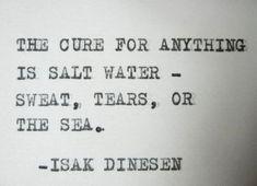 SALT WATER Quote Isak Dinesen Quote typewriter by PoetryBoutique, $7.00