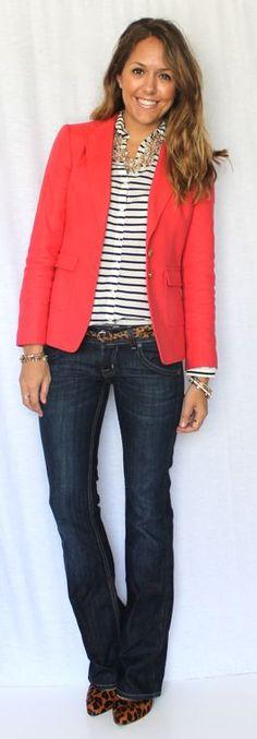 J's Everyday Fashion orange and stripes