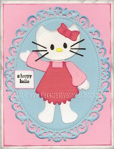 Hellow kitty card
