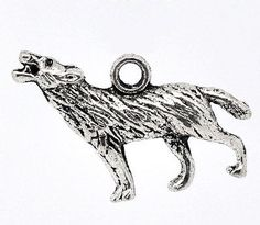 Wolf #howling #charm - direwolf #werewolf game of thrones (qty x 5),  View more on the LINK: http://www.zeppy.io/product/gb/2/271653237134/