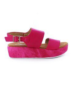 6199eebf836abd Another great find on  zulily! Fuchsia Italy Platform Sandal - Women   Tonjaamenra Very