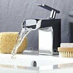 Create a spa-style bathroom with this gorgeous waterfall mono basin mixer