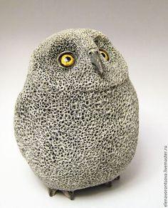 Ceramic Owl / Статуэтки ручной работы. Ярмарка Мастеров - ручная работа. Купить Сова. Handmade. Серый, фаянс