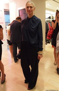 Vogue`s Christiane Arp looking immaculate and elegant at Fashion`s Night Out Düsseldorf 2013
