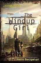 The windup girl.  Author: Paolo Bacigalupi.  Publisher: San Francisco : Night Shade Books, ©2009.  Summary: What happens when bio-terrorism becomes a tool for corporate profits? And what happens when this forces humanity to the cusp of post-human evolution? This is a tale of Bangkok struggling for survival in a post-oil era of rising sea levels and out-of-control mutation.