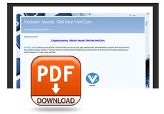 Vericoin faucet tutorial (  pdf file)  #Vericoin #pdf #cryptocurrency