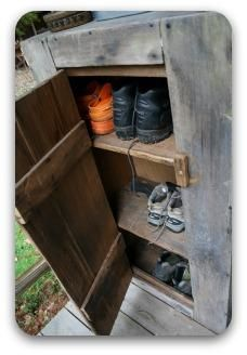 Front Porch Shoe Cupboard Storage ~ I Need Something Like This For Davidu0027s  Work Boots.