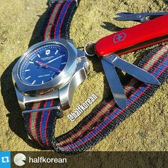 Did you know you can give your I.N.O.X. a new look with a new strap such as the NATO? Repost from @halfkorean