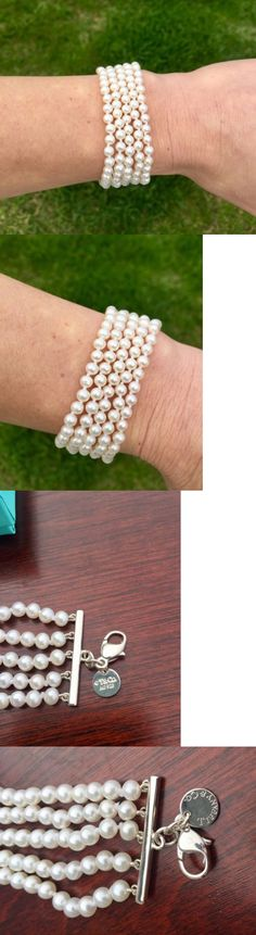 Pearl 164316: New Tiffany And Co 5-Strand Pearl Bracelet With Sterling Silver Clasp -> BUY IT NOW ONLY: $475.0 on eBay!