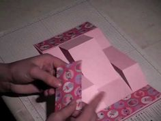 How to cut a cool fold out card... I'm not much of a card maker but it doesn't look to hard