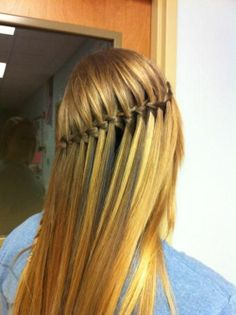 waterfall braid, beautiful..