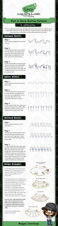 How To Draw Ruffles Tutorial V2 by ImHisEternalAngel.deviantart.com on @deviantART