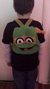 Ravelry: TMNT Inspired Backpack pattern by Raechel Mayfield