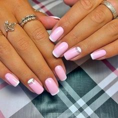 Accurate nails, Evening dress nails, Evening nails, French manicure ideas, Half-moon nails ideas, ring finger nails, Shiny french nails, Spectacular nails