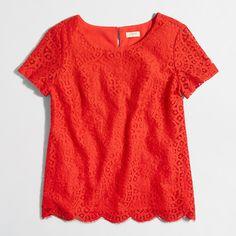 Factory lace T-shirt : Blouses & Tops | J.Crew Factory