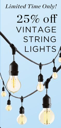 Our durable stringer prominently features 10 Edison-style bulbs, evoking warm, vintage charm - perfect for both indoor and outdoor use Vintage String Lights, Crown Heights, Cafe Style, Back Patio, Track Lighting, Vintage Inspired, How To Memorize Things, Glow, Indoor